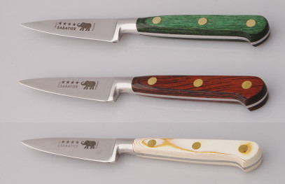 Thiers-Issard Four-Star Elephant Sabatier Knives 3 in paring knife