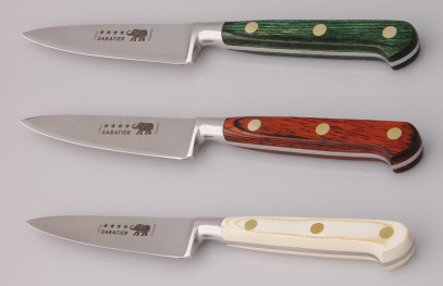 Thiers-Issard Four-Star Elephant Sabatier Knives 4 in paring knife