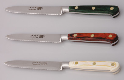 Thiers-Issard Four-Star Elephant Sabatier Knives 5 in tomato knife